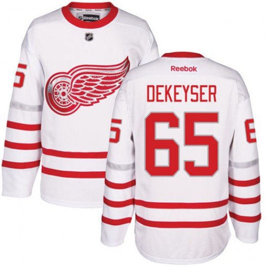 Danny DeKeyser Detroit Red Wings Men's Reebok Authentic White 2017 Centennial Classic Jersey