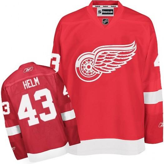 Darren Helm Detroit Red Wings Men's Reebok Authentic Red Home Jersey