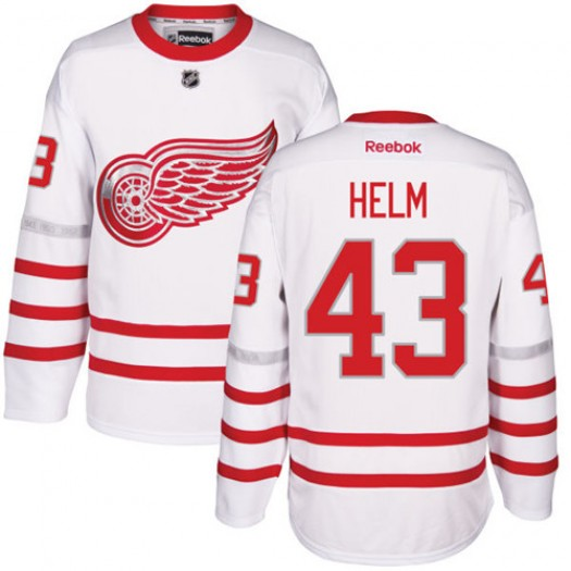 Darren Helm Detroit Red Wings Men's Reebok Authentic White 2017 Centennial Classic Jersey