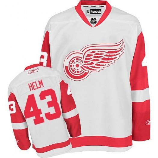 Darren Helm Detroit Red Wings Men's Reebok Authentic White Away Jersey