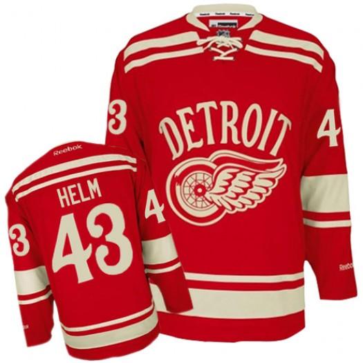 Darren Helm Detroit Red Wings Men's Reebok Premier Red 2014 Winter Classic Jersey