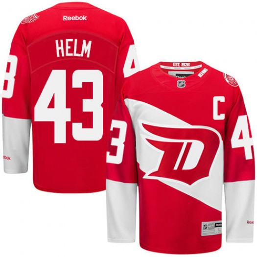 Darren Helm Detroit Red Wings Men's Reebok Premier Red 2016 Stadium Series Jersey