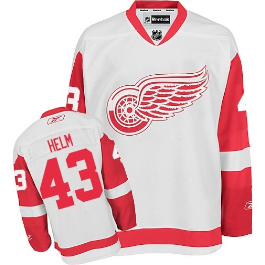 Darren Helm Detroit Red Wings Men's Reebok Premier White Away Jersey