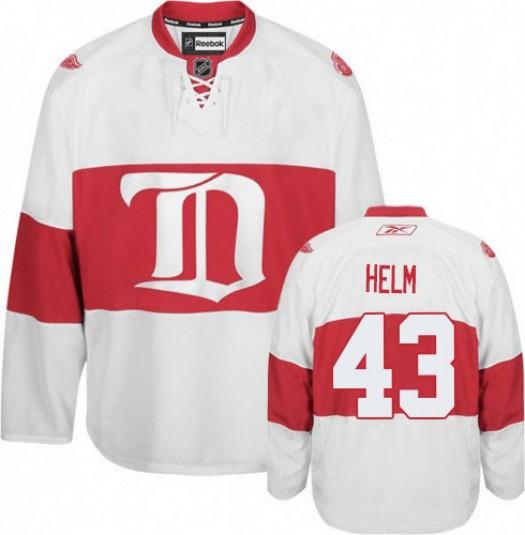 Darren Helm Detroit Red Wings Men's Reebok Premier White Third Jersey