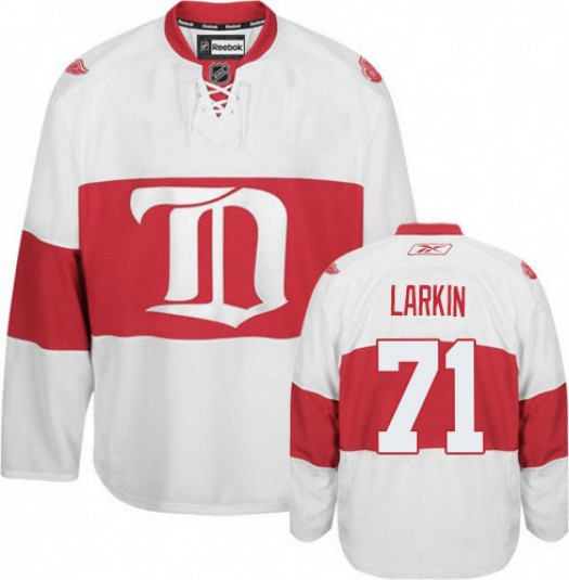 Dylan Larkin Detroit Red Wings Men's Reebok Authentic White Third Jersey