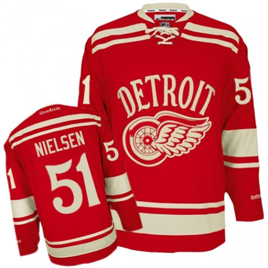 Frans Nielsen Detroit Red Wings Men's Reebok Authentic Red 2014 Winter Classic Jersey