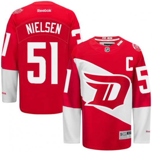 Frans Nielsen Detroit Red Wings Men's Reebok Premier Red 2016 Stadium Series Jersey