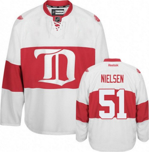 Frans Nielsen Detroit Red Wings Men's Reebok Premier White Third Jersey