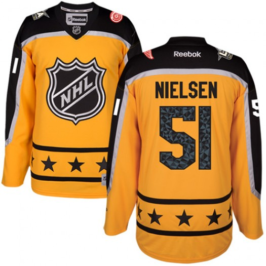 Frans Nielsen Detroit Red Wings Women's Reebok Authentic Yellow Atlantic Division 2017 All-Star Jersey