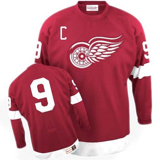 Gordie Howe Detroit Red Wings Men's Mitchell and Ness Premier Red Throwback Jersey