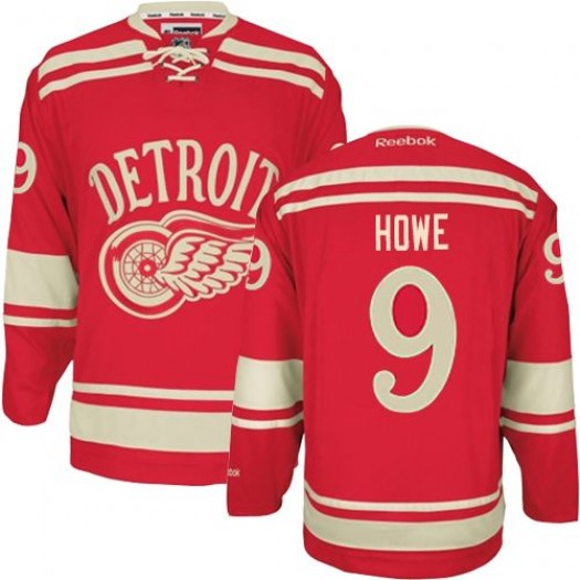 Gordie Howe Detroit Red Wings Men's Reebok Authentic Red 2014 Winter Classic Jersey