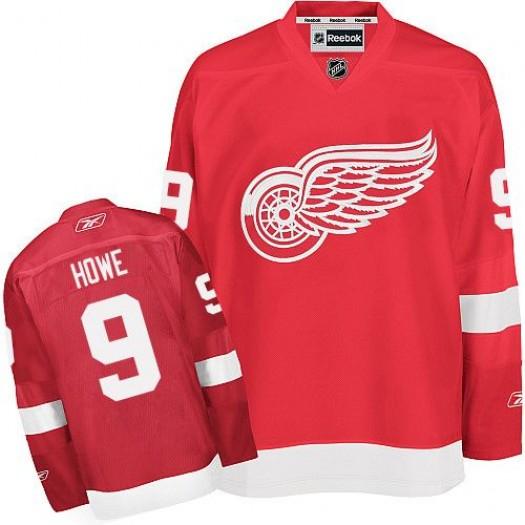 Gordie Howe Detroit Red Wings Men's Reebok Authentic Red Home Jersey