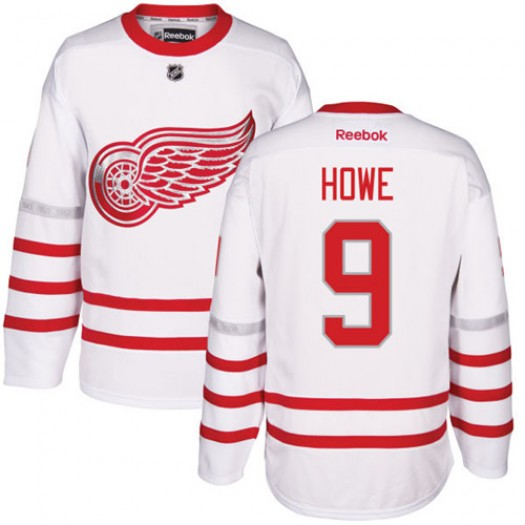 Gordie Howe Detroit Red Wings Men's Reebok Authentic White 2017 Centennial Classic Jersey