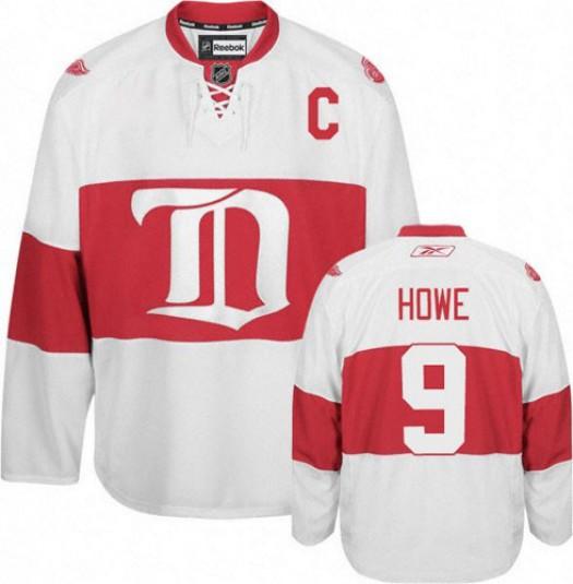 Gordie Howe Detroit Red Wings Men's Reebok Authentic White Third Jersey