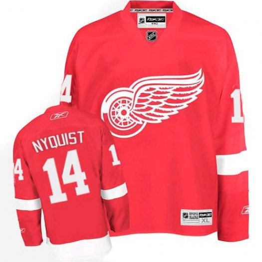Gustav Nyquist Detroit Red Wings Men's Reebok Authentic Red Home Jersey