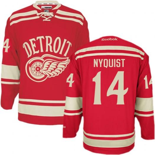 Gustav Nyquist Detroit Red Wings Men's Reebok Premier Red 2014 Winter Classic Jersey