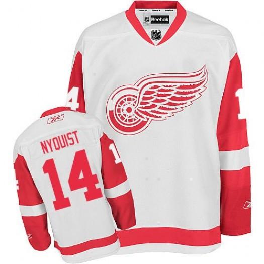 Gustav Nyquist Detroit Red Wings Men's Reebok Premier White Away Jersey