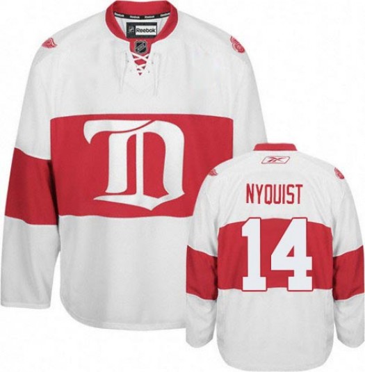 Gustav Nyquist Detroit Red Wings Men's Reebok Premier White Third Jersey