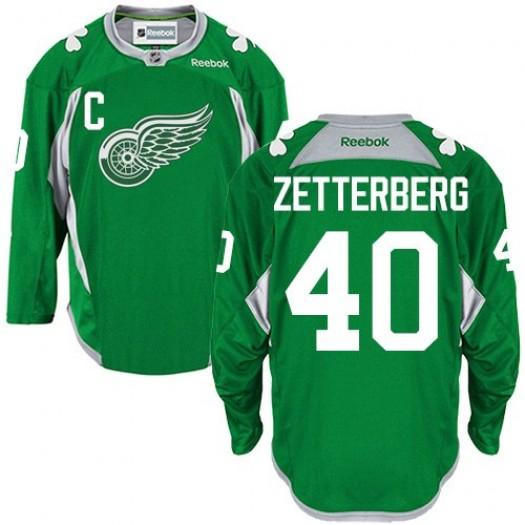 Henrik Zetterberg Detroit Red Wings Men's Reebok Authentic Green Practice Jersey