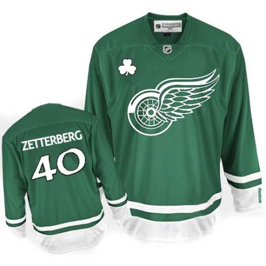 Henrik Zetterberg Detroit Red Wings Men's Reebok Authentic Green St Patty's Day Jersey