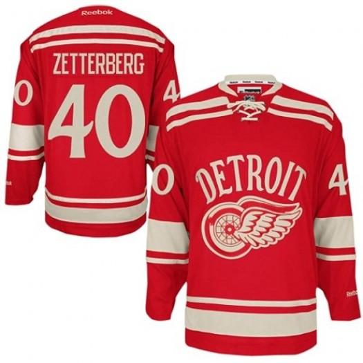 Henrik Zetterberg Detroit Red Wings Men's Reebok Authentic Red 2014 Winter Classic Jersey