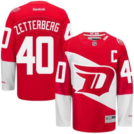 Henrik Zetterberg Detroit Red Wings Men's Reebok Authentic Red 2016 Stadium Series Jersey