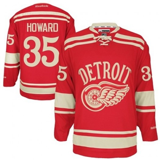 Jimmy Howard Detroit Red Wings Men's Reebok Authentic Red 2014 Winter Classic Jersey