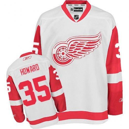 Jimmy Howard Detroit Red Wings Men's Reebok Authentic White Away Jersey