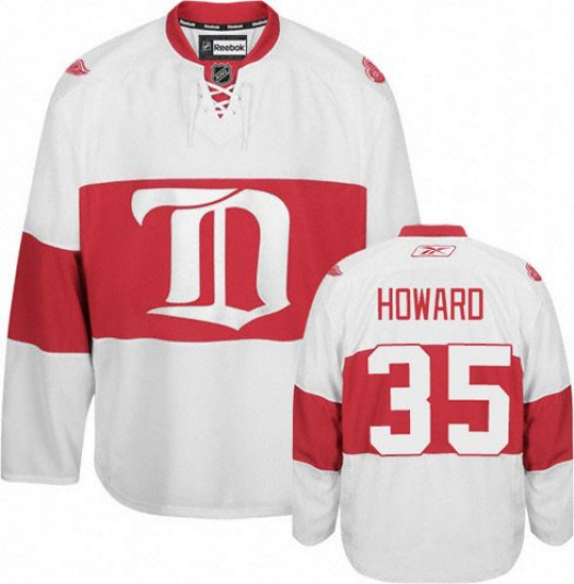 Jimmy Howard Detroit Red Wings Men's Reebok Authentic White Third Jersey