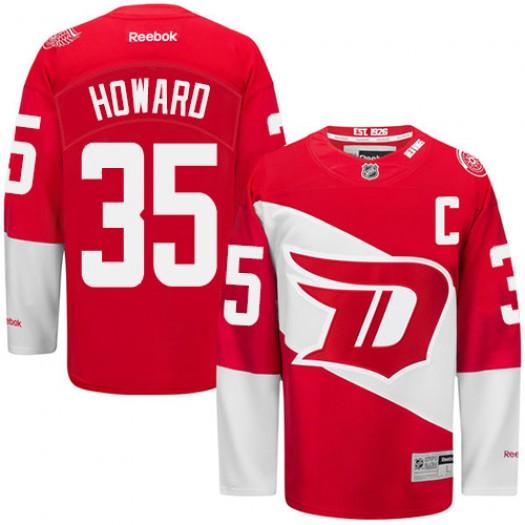 Jimmy Howard Detroit Red Wings Men's Reebok Premier Red 2016 Stadium Series Jersey
