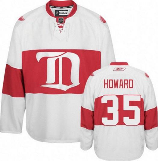 Jimmy Howard Detroit Red Wings Men's Reebok Premier White Third Jersey