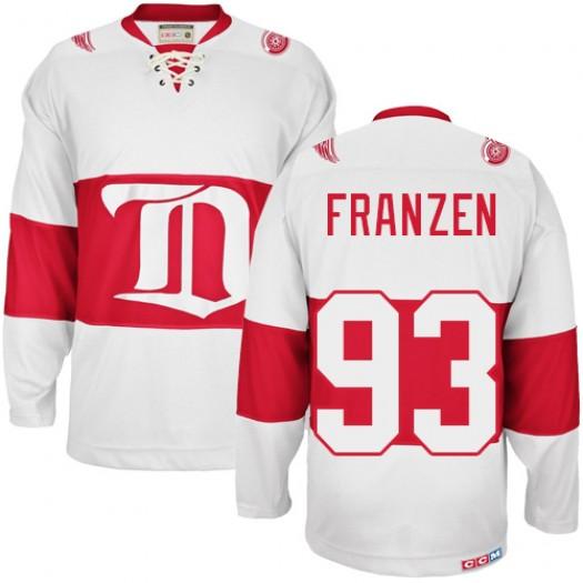 Johan Franzen Detroit Red Wings Men's CCM Premier White Winter Classic Throwback Jersey