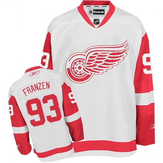 Johan Franzen Detroit Red Wings Men's Reebok Authentic White Away Jersey
