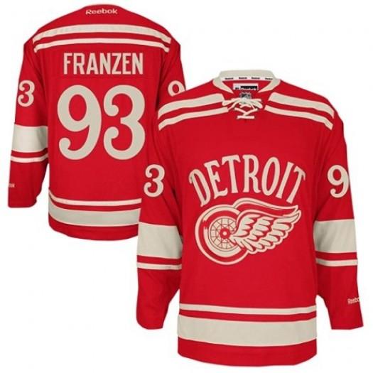Johan Franzen Detroit Red Wings Men's Reebok Premier Red 2014 Winter Classic Jersey
