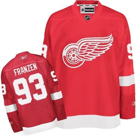 Johan Franzen Detroit Red Wings Men's Reebok Premier Red Home Jersey