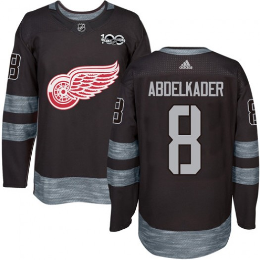 Justin Abdelkader Detroit Red Wings Men's Adidas Premier Black 1917-2017 100th Anniversary Jersey