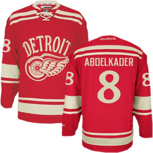 Justin Abdelkader Detroit Red Wings Men's Reebok Authentic Red 2014 Winter Classic Jersey