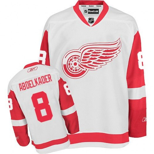 Justin Abdelkader Detroit Red Wings Men's Reebok Authentic White Away Jersey