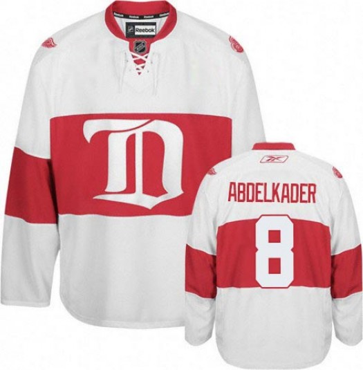 Justin Abdelkader Detroit Red Wings Men's Reebok Authentic White Third Jersey