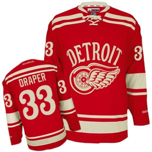 Kris Draper Detroit Red Wings Men's Reebok Premier Red 2014 Winter Classic Jersey