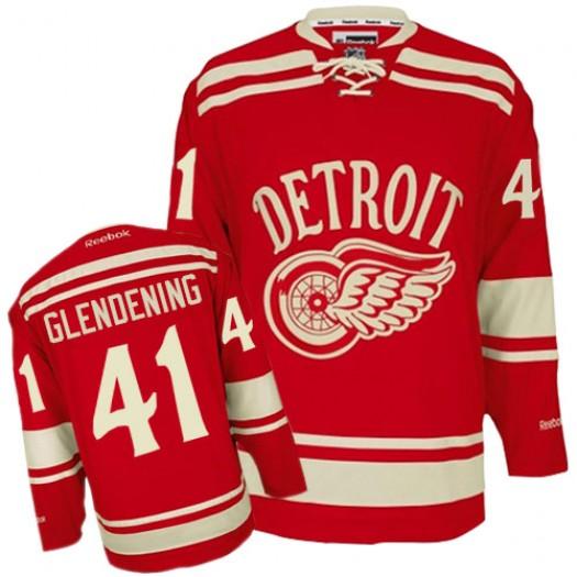 Luke Glendening Detroit Red Wings Men's Reebok Premier Red 2014 Winter Classic Jersey
