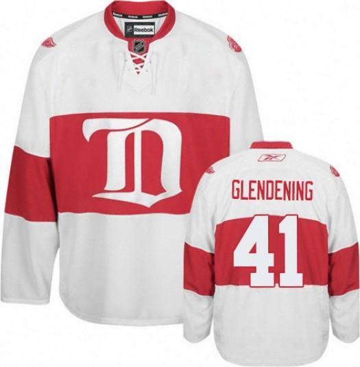 Luke Glendening Detroit Red Wings Men's Reebok Premier White Third Jersey
