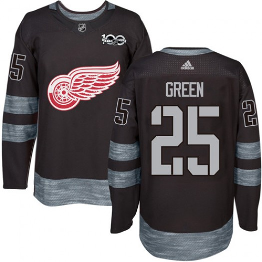Mike Green Detroit Red Wings Men's Adidas Premier Green Black 1917-2017 100th Anniversary Jersey