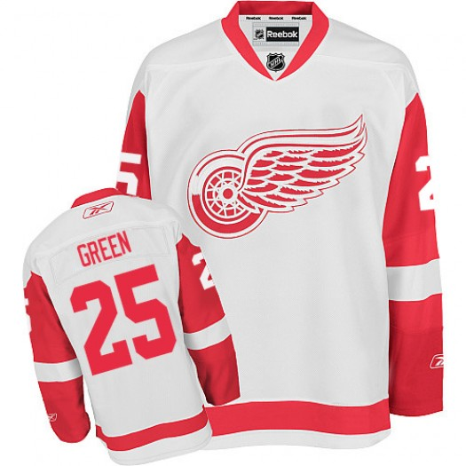 Mike Green Detroit Red Wings Men's Reebok Authentic White Away Jersey