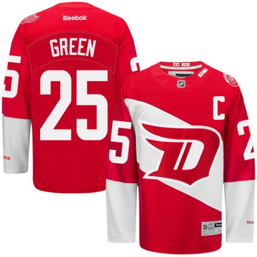 Mike Green Detroit Red Wings Men's Reebok Premier Green Red 2016 Stadium Series Jersey