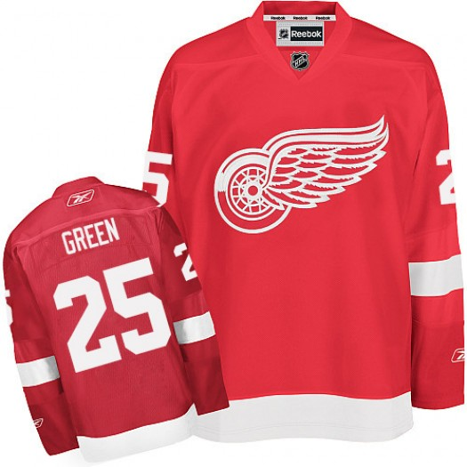 Mike Green Detroit Red Wings Men's Reebok Premier Green Red Home Jersey