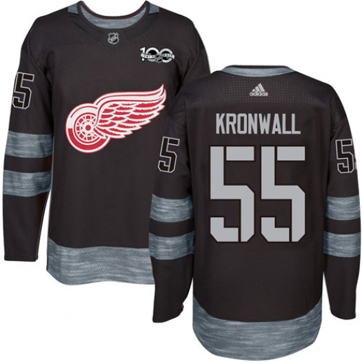Niklas Kronwall Detroit Red Wings Men's Adidas Authentic Black 1917-2017 100th Anniversary Jersey