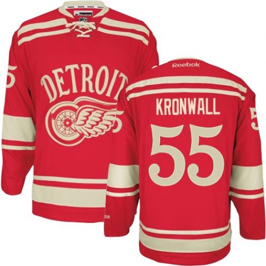 Niklas Kronwall Detroit Red Wings Men's Reebok Authentic Red 2014 Winter Classic Jersey