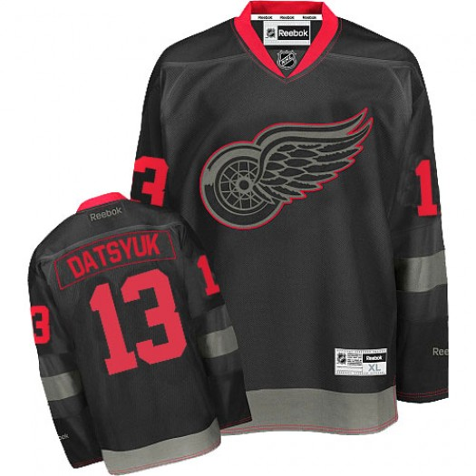Pavel Datsyuk Detroit Red Wings Men's Reebok Authentic Black Ice Jersey