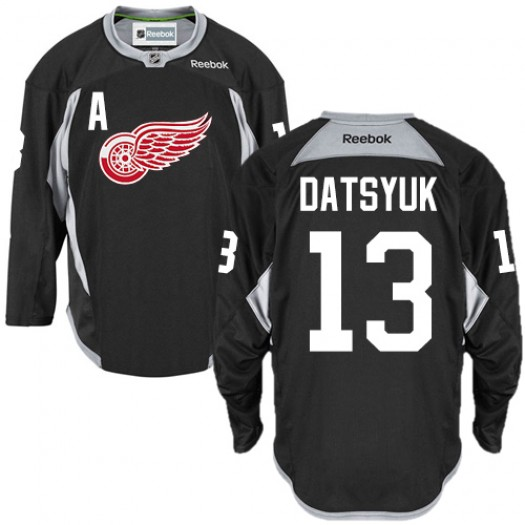 Pavel Datsyuk Detroit Red Wings Men's Reebok Authentic Black Practice Jersey